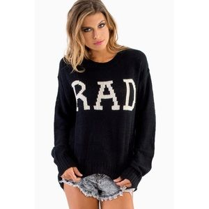Black & White 'RAD' Crewneck Knit Sweater